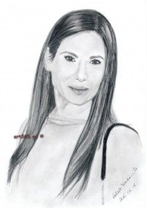 Sandra Bullock, graphite drawn - art365.eu