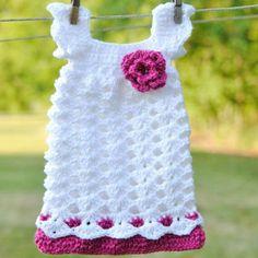 Cute Crochet Dress - no link to pattern