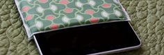 Padded iPad sleeve.  Sew it with seem inside at opening two edges.  Binding to case exterior seems.