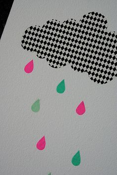 Harlequin clouds by Charmerende (it's masking tape!)