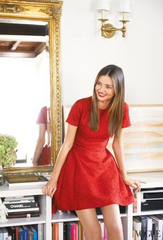 Miranda Kerr and little red dress! Pure inspiration for stylish elegant look #ootd