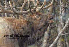 Wildlife art prints plus original paintings with a wide selection from ArtBarbarians.com located in Minnesota.