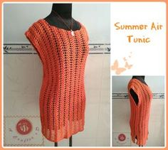 Lacy - side slits crochet tunic for Summer days.