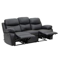 VH FURNITURE Sofa Recliner 3 Seats In Top Grain Leather For Home Furniture  Review