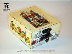 www.zepelinoartesania.com Cajas de madera | Vintage | Decoupage | Manualidades | Restauración | Decoración de cajas