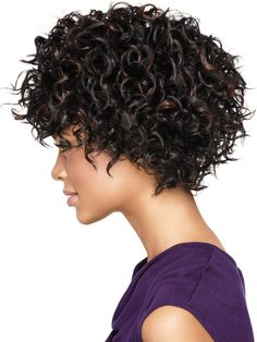 Short hair styles for curly hair, for African American women