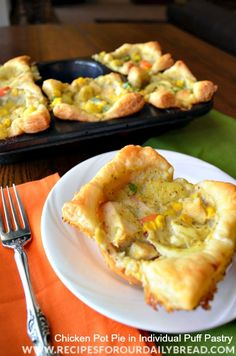 What inspired me to create this Chicken Pot Pie in Individual Puff Pastry. I added my creamy pot pie filling to a puff pastry that I individually cut. WOW!