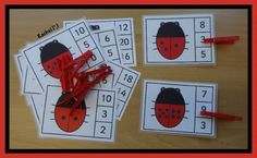 "Ladybird peg game (FREE printable) (and others, too) from Rachel ("",)"