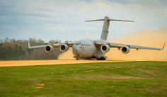 A C-17 Globemaster III takes off