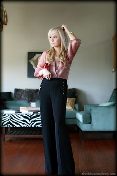 Outfit Of The Yesterday: Mauve + Coral + Gold + Black (Fancy Pants!) | t h e (c h l o e) c o n s p i r a c y : fashion + life + style