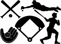 Baseball Wall Decals Pack