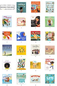23 diverse + inclusive books for kids | via Yellow Brick Home Bright Girls Rooms, Modern Girls Rooms, Thanks For The Tip, Board Books For Babies, Cool Mom Picks, Make A Family, 2nd Grade Reading, Book Activities, Book Recommendations