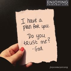 God has it all planned out - He wants to give you the future you hope for. #trust