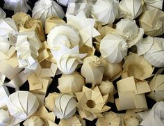 3D Origami by Jun Mitani - origami and folding master! just beautiful!