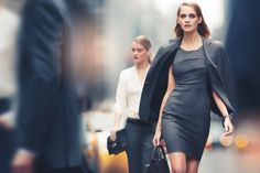 DKNY Spring 2011 Campaign | Heidi Mount by Nathaniel Goldberg  haven't worn a suit in a long time, but got to love the fitted pencil skirt dress