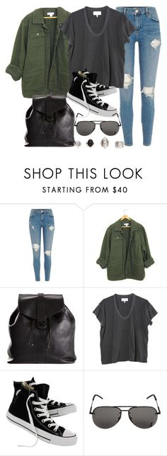 """Sin título #12309"" by vany-alvarado ❤ liked on Polyvore featuring Chanel, The Great, Converse and Yves Saint Laurent"