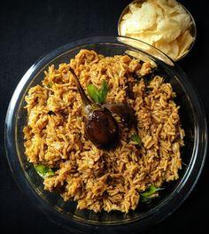 Kathrikkai Sadam - Brinjal rice #spiceindiaonline #indianfood #brinjalrice #lunch #rice