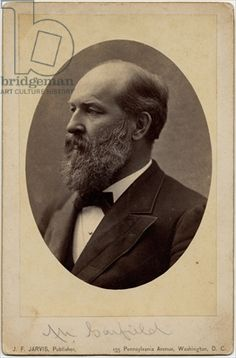 James Abram Garfield President of the United States of America, photo by J F Jarvis, Washington DC (albumen photo) / American Antiquarian Society, Worcester, MA American Presidents, Us Presidents, American History, Vintage Photography, Portrait Photography, 20th President, Presidential Portraits, Worcester Massachusetts, Massachusetts Usa
