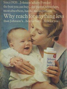 Johnson's Baby Powder Advertisement Ad March 1970 Vintage Retro
