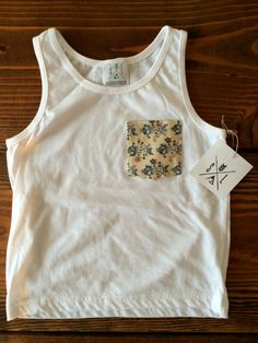 The Ellie Pocket Tee Floral Pocket Kid Pocket shirt by SandiLake, $14.00