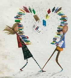 I Love Books illustration I Love Books, Great Books, Books To Read, My Books, Illustrations, Illustration Art, Buch Design, World Of Books, I Love Reading