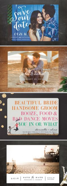 A Summer Themed Save the Date - Beach Wedding / Carnival Wedding Inspiration