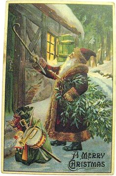 Get your hands on a customizable Victorian Christmas postcard from Zazzle. Vintage Christmas Images, Old Christmas, Old Fashioned Christmas, Christmas Scenes, Victorian Christmas, Father Christmas, Vintage Holiday, Christmas Pictures, Christmas Greetings