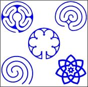 Garden Labyrinth Templates ... lots of choices!