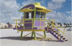 William Lane Lifeguard Tower on Miami Beach South Beach, Miami Beach, Beach Wedding Setup, Beach Lifeguard, Sunshine State, Art And Architecture, Towers, City, Travel