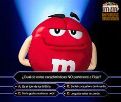 M&M's Chile - ¡CONCURSO!, Responde esta pregunta sobre Rojo y entre todos los que acierten correctamente sortearemos 3 packs de chocolates