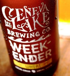 Geneva Lake Brewing Co. Packaging, Geneva, Lake, Brewery, Oh Beautiful Beer, Bottle Design