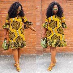 The complete pictures of latest ankara short gown styles of 2018 you've been searching for. These short ankara gown styles of 2018 are beautiful African Bridesmaid Dresses, Short African Dresses, Ankara Short Gown Styles, Trendy Ankara Styles, African Print Dresses, Ankara Gowns, African Dress Designs, Latest Ankara Short Gown, Short Gowns