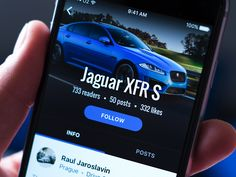 Automotive app  profile  by Sergey Krasotin