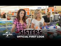 Tina Fey and Amy Poehler reunite onscreen in the comedy 'Sisters', which hits theaters the same day as 'Star Wars: The Force Awakens'. Watch the first TV spot now. Amy Poehler, Tina Fey, 2015 Movies, New Movies, Movies And Tv Shows, Upcoming Movies, Funny Movies, Owen Wilson, Comedy Duos