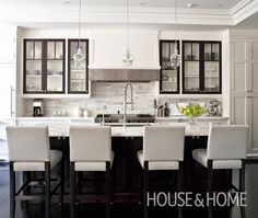 Contemporary Black & White Kitchen