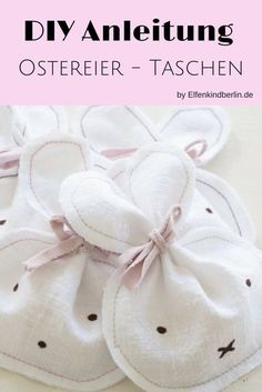 Diese süßen Osterhasentaschen im Miffy Style sind in fünf Minuten genäht! Die Anleitung mit kostenlosem Schnittmuster findet ihr auf www.elfenkindberlin.de
