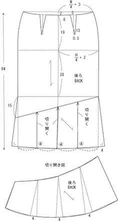 skirt , patterns instructions