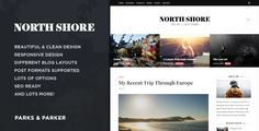 North Shore - A Responsive WordPress Blog Theme • Download theme ➝…