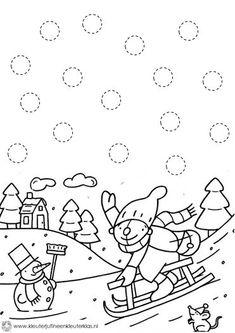 free winter trace worksheet for kids | Crafts and Worksheets for Preschool,Toddler and Kindergarten