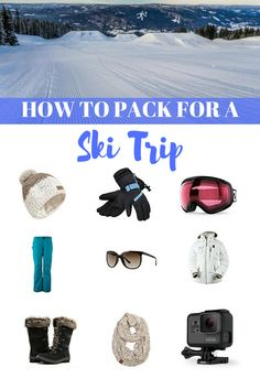 When going on a ski vacation in the winter, you want to make sure you have everything you need on your ski trip packing list. Make it easy by knowing what to pack for a ski trip next time you head out of town. Packing Tips For Vacation, Ski Vacation, Travel Packing, Packing Lists, Travel Hacks, What To Pack, Travel Gifts, Winter Travel, Adventure Travel