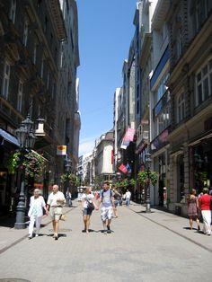 Budapest Hungary Vaci  Utca Walking street