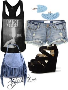 """Jean Shorts Outfit !"" by stylisheve on Polyvore"