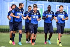 Players of Italy during a training session on June 16 2014