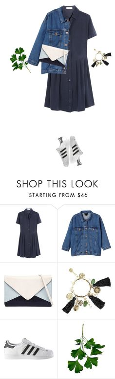 """"""":)"""" by tovv ❤ liked on Polyvore featuring Equipment, Monki, Jendi, Oscar de la Renta and adidas"""