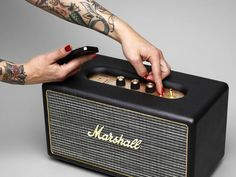 The Marshall Stanmore Bluetooth Speaker System is a stylish speaker with the classic Marshall Stanmore amp aesthetics and excellent performance.