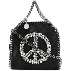 Stella McCartney tiny Falabella peace sign tote ($935) ❤ liked on Polyvore featuring bags, handbags and tote bags
