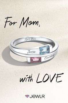A personalized Mother's Ring is the perfect gift idea for Mother's Day. Create a one-of-a-kind gift in silver or gold with birthstones and engravings. Mom will love it – guaranteed! Unique Diamond Rings, Vintage Diamond Rings, Unique Rings, Yellow Diamond Engagement Ring, Gold Diamond Wedding Band, Antique Wedding Rings, Vintage Engagement Rings, Black Diamond Earrings, Mom Ring
