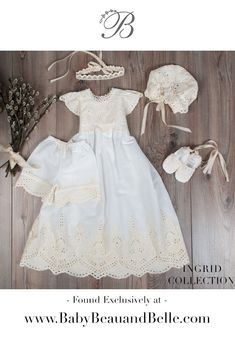 Baby girl christening baptism blessing gown Christening Gowns For Girls, Cotton Gowns, Blessing, Flower Girl Dresses, Wedding Dresses, Beautiful, Beauty, Fashion, Bride Dresses