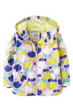 Mini Boden Jersey Lined Hooded Anorak (Toddler Girls, Little Girls & Big Girls) | Nordstrom
