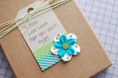 washi tape + bakers twine gift tag idea #craft #diy